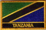 Tanzania Embroidered Flag Patch, style 09.